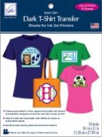 June Tailor Iron-On Ink Jet Transfer Sheets 8.5 X11  10/Pkg-Dark T-Shirt - 1