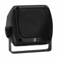 PolyPlanar Portable Marine Boat Subcompact Square Shape Music Sound Box Speaker Pair Black - 1 unit
