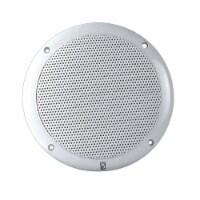 PolyPlanar 4  2-Way Coax Integral Grill Marine Speaker - (Pair) White - 1 unit