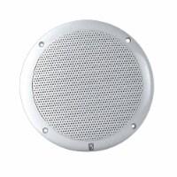 PolyPlanar 6  2-Way Coax-Integral Grill Marine Speaker - (Pair) White - 1 unit