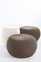Keter Cozy Urban Set, Resin Outdoor Patio Furniture, Knit Pattern