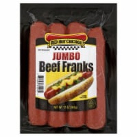 Red Hot Chicago Jumbo Beef Franks - 12 oz