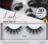 Kiss Lash Couture Triple Push Up Teddy False Eyelashes - 1 ct