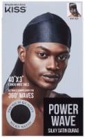 Kiss Power Wave Satin Durag, Black