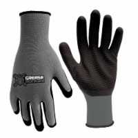 Grease Monkey One Size Fits All Latex Honeycomb Black/Gray Grip Gloves - Case Of: 1;