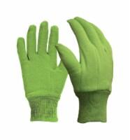 Digz M Jersey Cotton Garden Green Gardening Gloves - Case Of: 6; Each Pack Qty: 1; - Case of: 6