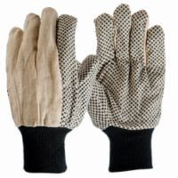 Big Time Products 242594 Mens True Grip Large Dotted Cotton Canvas Gloves, Pack of 3 - 3