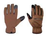 True Grip Men's Indoor/Outdoor Canvas Work Gloves Black/Brown L 1 pair - Case Of: 1; - 1