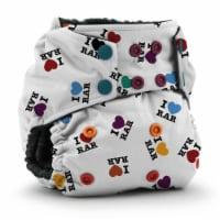 Kanga Care Rumparooz OBV One Size Pocket Cloth Diaper | I LOVE RAR (6-40lbs)