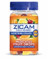 Zicam Cold Remedy Assorted Fruit Flavors Medicated Drops 25 Count