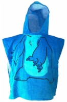 Disney Lilo And Stitch Hooded Poncho Style Changing Towel , Ages 3 To 8 - Blue - Youth Size - 1