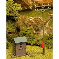 ATM705 HO Scale Telephone Shanty & Pole Kit - 1