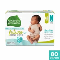Seventh Generation Newborn Diapers 80 Count