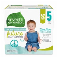 Seventh Generation Size 5 Diapers 52 Count