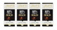 Lindt Excellence Extra Dark 85% Cocoa Chocolate Bars (4 Pack) 3.5 oz Bars by Lindt - 4 Bars/ 3.5 Ounce