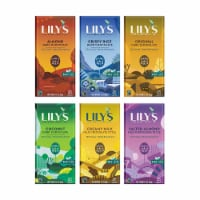 LILY'S Chocolate - Super Variety - 1 Of Each Flavor Creamy Milk, Almond, Coconut