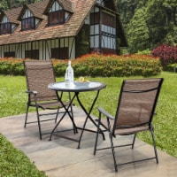 Costway 2PCS Outdoor Patio Folding Chair Camping Portable Lawn Garden W/Armrest - 1 unit