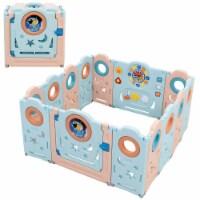 Babyjoy 14-Panel Foldable Baby Playpen Toddler Safety Play Yard w/Lockable Gate - 1 unit