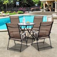 Costway 4PCS Outdoor Patio Folding Chair Camping Portable Lawn Garden W/Armrest - 1 unit