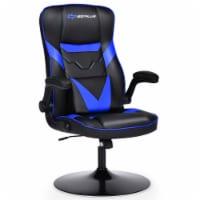 Goplus Rocking Gaming Chair Height Adjustable Swivel Racing Style Rocker Yellow\\Blue\\Red\\
