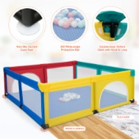 Costway Baby Playpen Infant Large Safety Play Center Yard w/ 50 Ocean Balls - 1 unit