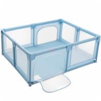 Babyjoy Baby Playpen Extra Large Kids Activity Center Safety Play Yard w/ Gate Beige\Blue\ - 1 unit