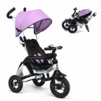 Costway 6-in-1 Baby Foldable Stroller Tricyclew/Canopy Bag and Sponge Guardrail - 1 unit