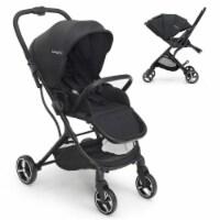 Babyjoy High Landscape Foldable Baby Stroller w/ Reversible Reclining Seat Gray\\Black - 1 unit