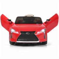Costway 12V Kids Ride on Car Lexus LC500 Licensed Remote Control Electric Vehicle Red - 42''x24.5''x17.5''
