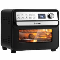 Costway 12-in-1 Air Fryer Oven 23 QT Digital Toaster Oven Rotisserie w/ 9 Accessories