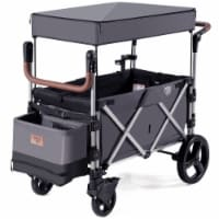 Babyjoy 2 Passenger Push Pull Folding Twin Double Stroller Wagon w/Canopy Drapes