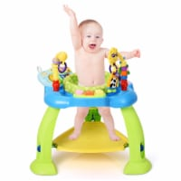Costway 2-in-1 Baby Jumperoo Adjustable Sit-to-stand Activity Center W/360 Seat Pink\ Green - 1 unit