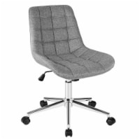 Costway Mid Back Armless Office Chair Adjustable Swivel Fabric Task Desk Chair - 1 unit