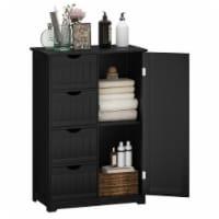 Costway 4 Drawer Freestanding Bathroom Floor Cabinet Adjustable Storage Cupboard - 1 unit