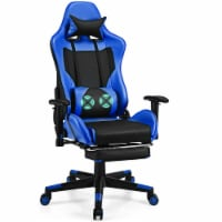 Costway Massage Gaming Chair Reclining Racing Office Computer Chair with Footrest - 1 unit