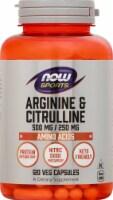NOW Foods  Sports Arginine & Citrulline Capsules - 120 ct