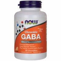 NOW Foods Chewable GABA Natural Orange Flavor Dietary Supplement Tablets - 90 ct