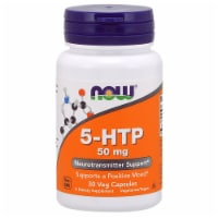 NOW Foods 5-HTP Neurotransmitter Support Dietary Supplement Veg Capsules 50mg