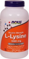 NOW   Double Strength L-Lysine - 1000 mg - 250 Tablets