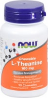 NOW Foods  Chewable L-Theanine - 100 mg - 90 Chewables