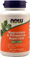 NOW Magnesium & Potassium Aspartate Veg Capsules - 120 ct