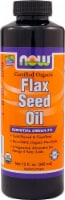 NOW Foods Certified Organic Flax Seed Oil - 12 fl oz