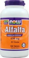 NOW Foods Alfalfa Tablets 650mg - 500 ct