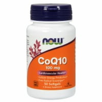 NOW Foods CoQ10 Cardiovascular Health Dietary Supplement Softgels 100mg - 50 ct
