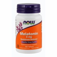 Now Melatonin Sustained Release Healthy Sleep Cycle Gastrointestinal Support Tablets 5mg