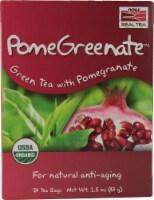 NOW Foods  Real Tea Organic PomeGreenate™   Green Tea with Pomegranate