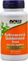 NOW Echinacea & Goldenseal Root Capsules - 100 ct