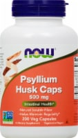 NOW Psyllium Husk Caps 500mg - 200 ct