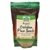 NOW Foods Organic Golden Flax Seeds - 16 oz
