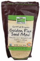 NOW  Real Food Certified Organic Golden Flax Seed Meal - 12 oz